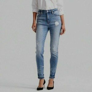 """Point Sur 10"""" Hightower Straight Jeans Blue Frayed"""